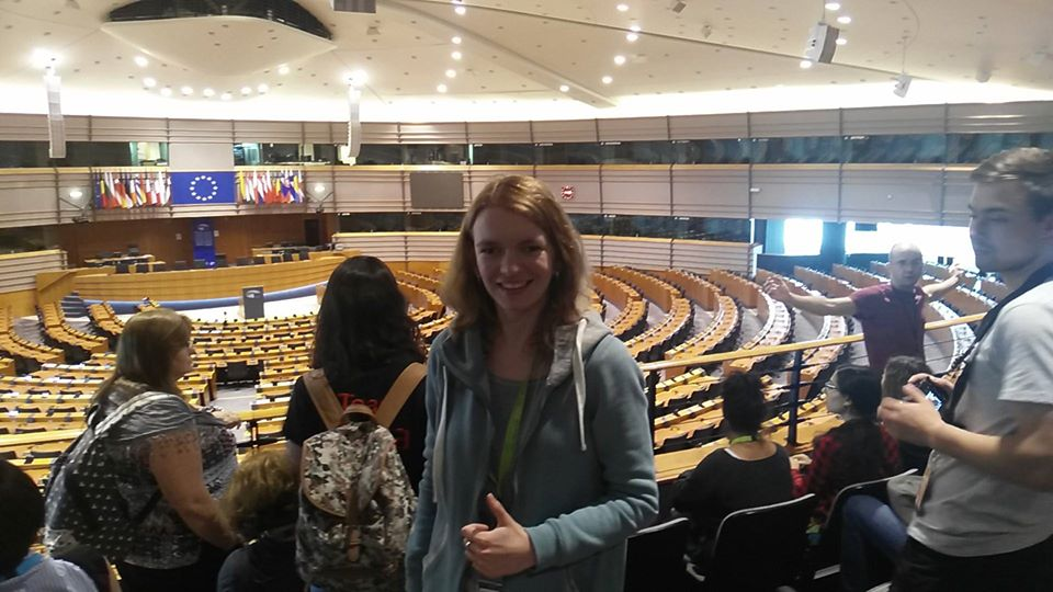 Visiting the Brussels parliament during my first ICC in Belgium