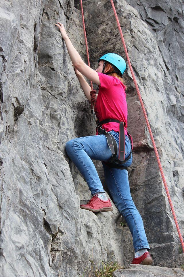 Letos jsme během campu měli možnost si vyzkoušet třeba i horolezectví