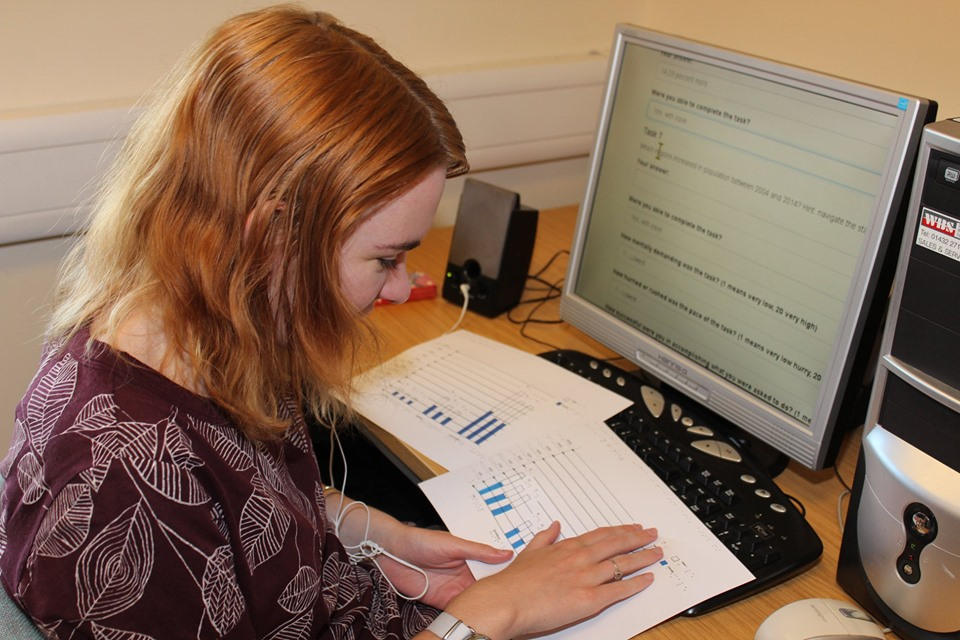 Během campu se pracuje s počítačem a taktilními grafy