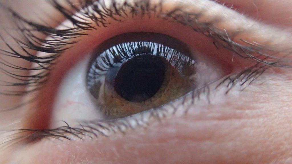 A photo of an eye