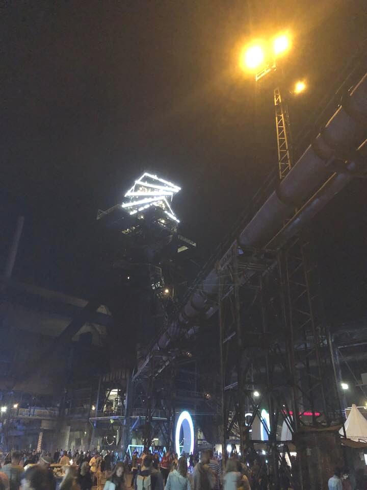 Průmyslový areál, kde se festival konal